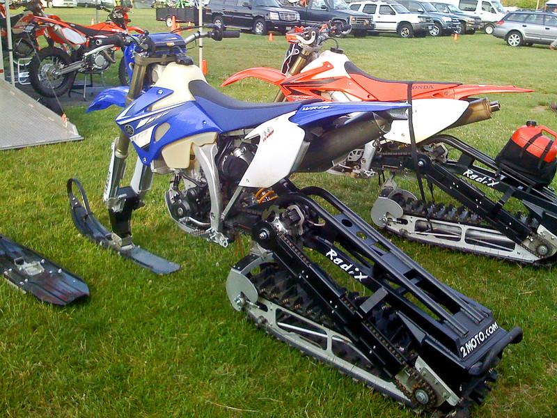 Beaverton Honda had the snowbikes on display