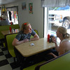 Damon and Kim at Blondie's, for ice cream. Naturita, Colorado.