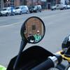 Harl, Nancy in reflection. Telluride, Colorado.