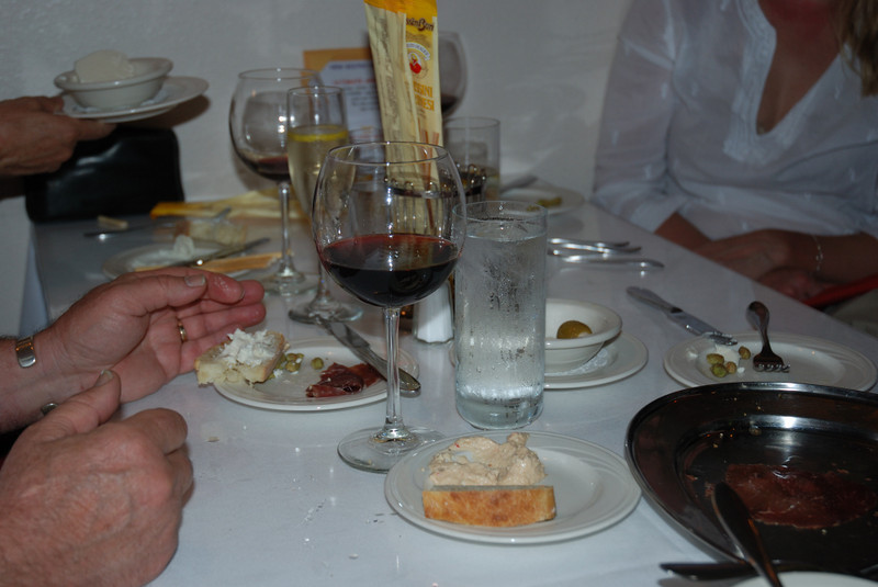 The dinner table shot.