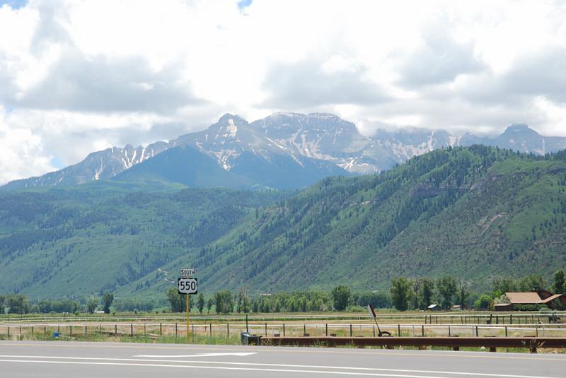 View along US 550 outside of Ridgeway, Colorado.