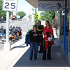 Nancy, Kim and Damon head for breakfast in Cortez, Colorado.