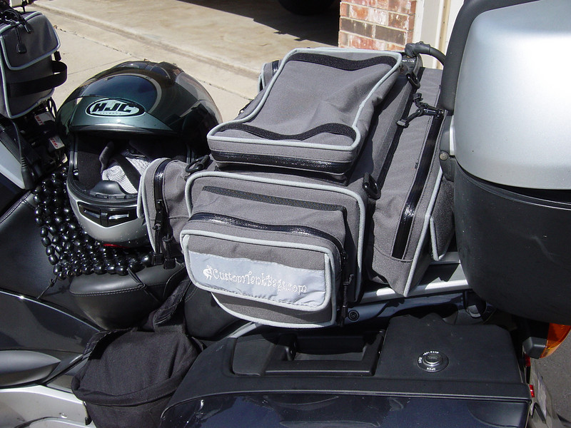 Better view of the bike cover pouch.
