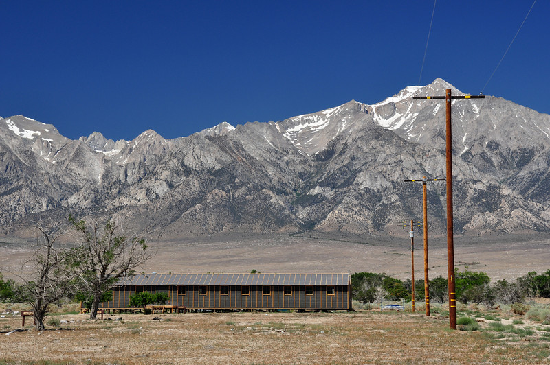 Along the way, I stopped at the Manzanar internment camp.