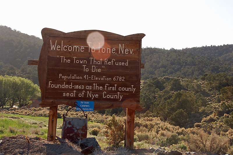 Ione, NV, welcomes you.