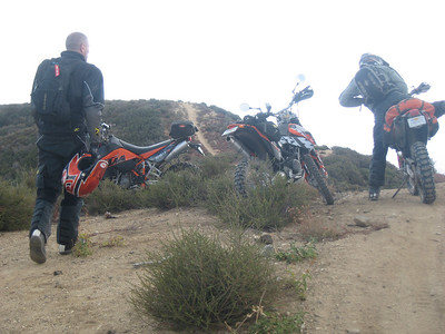 ADV ride Sunday 10-04-2009 Ben, Steve, Mike and Tony Castaic area