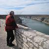 Braz checks out the Pecos River as it empties into the Rio Grande.