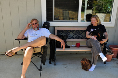 My second night was in Placerville, CA at my friends Zane and Roxanne's house.  This was a VERY long 636 mile day.  Whew.