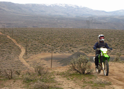 Danny cresting the hill.  This one caused him some problems last year on the DR.