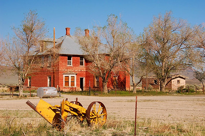 Toward the north end of  the Reese valley.  A huge mansion, completely abandoned.