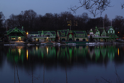 Boathouse Row on St. Pat's