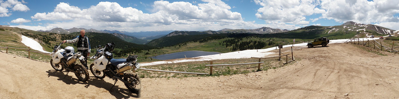 Panoramic view from atop Taylor Pass