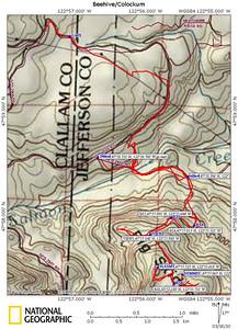 20100315 Test Posting of Topo Map for Big Skidder Hill