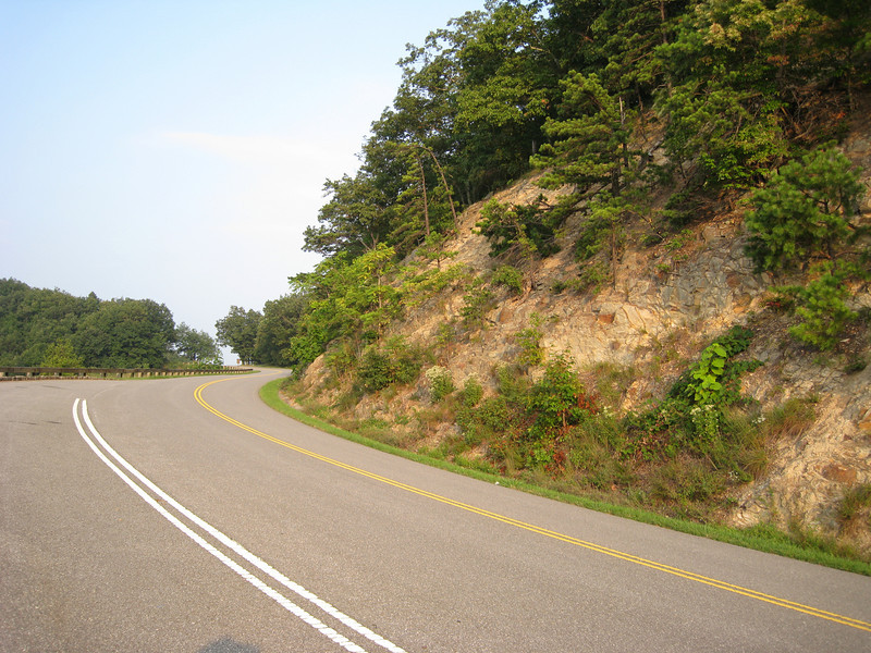 Typical set of curves on the BRP - great road, especially the southern half!