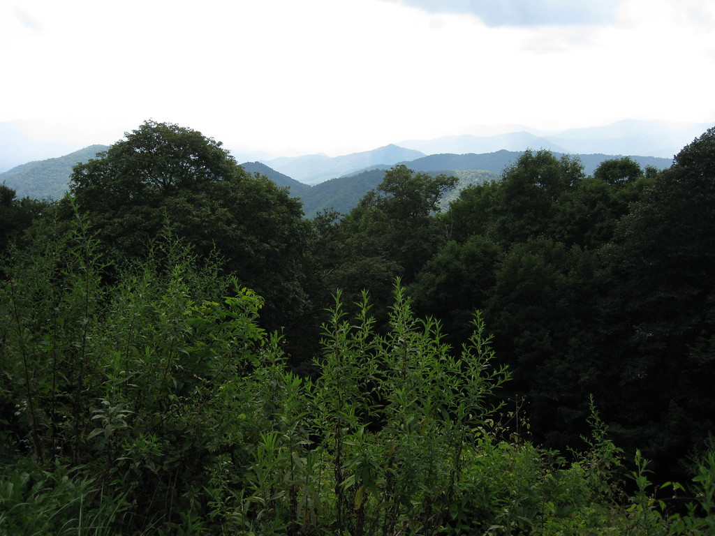 View from the Blue Ridge Parkway, Tennessee.