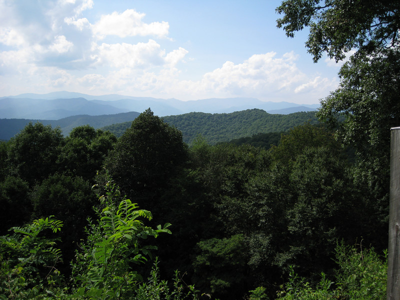 View from Blue Ridge Parkway, Tennessee or North Carolina