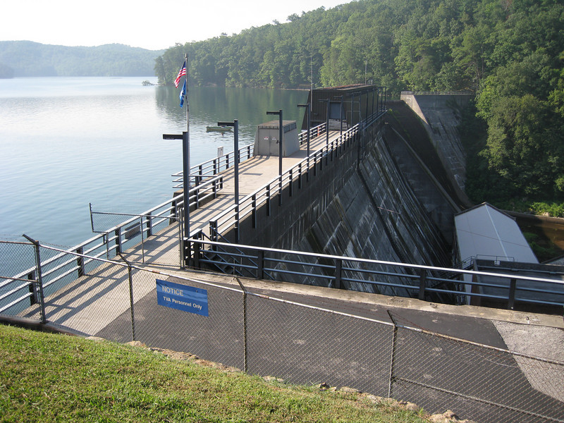 TVA Dam at Parksville Lake on Ocoee River, Route 74, Tennessee