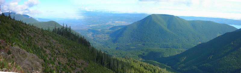 Quilcene and Mt Walker from Buck Mt