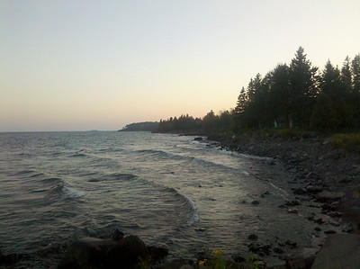 Lake Superior coast south of Larsmont