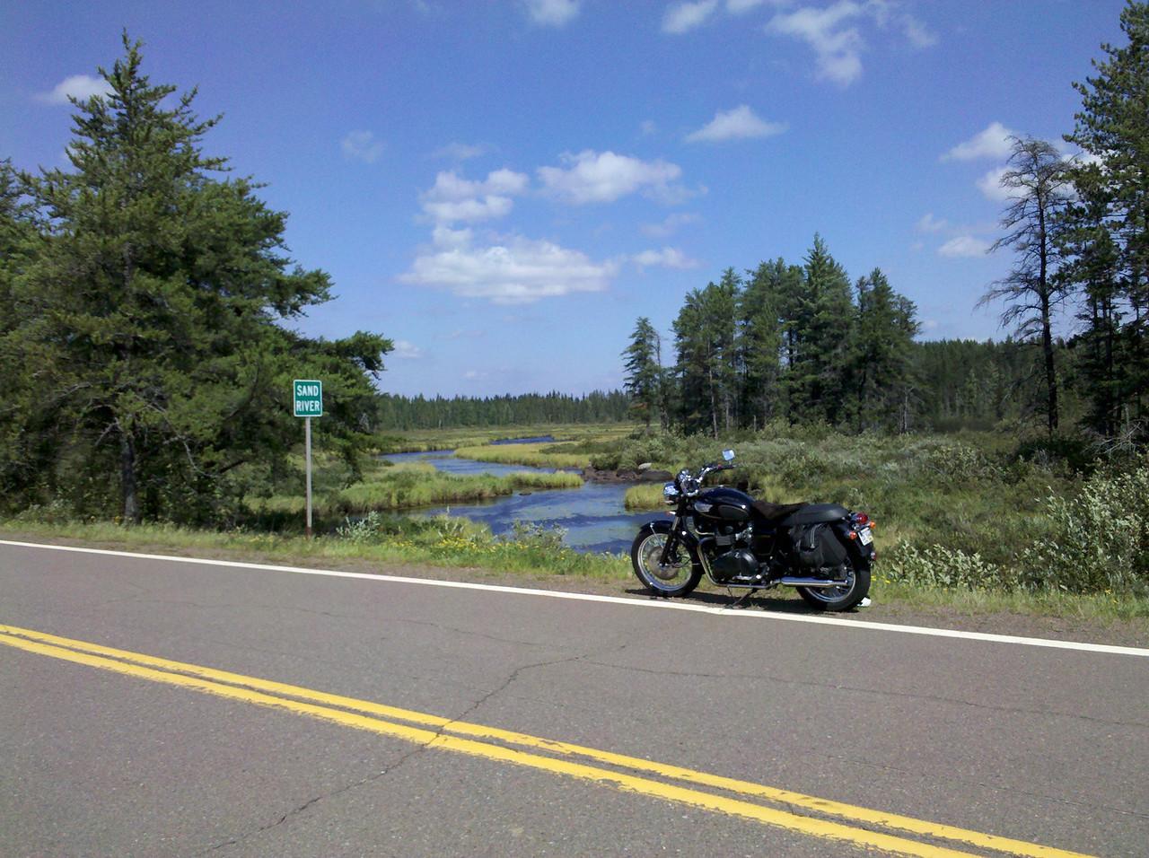 Sand River on Highway 2, Superior National Forest