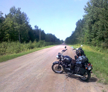 Dirt road riding out of Bayfield, WI