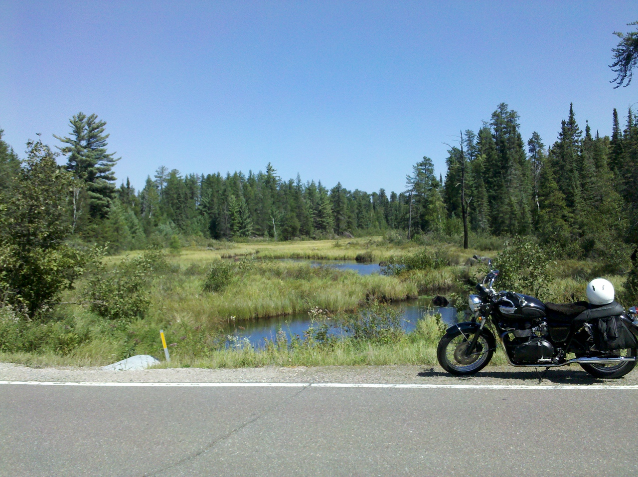 Rt 1 out of Ely in Superior National Forest