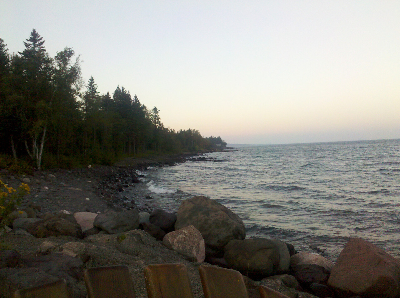 Lake Superior coast north of Larsmont