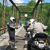 Crossing the East Fork of the Greenbrier River on Thursday's GS ride.