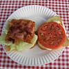 The Hoot breakfast of champions - a BLT on white bread.
