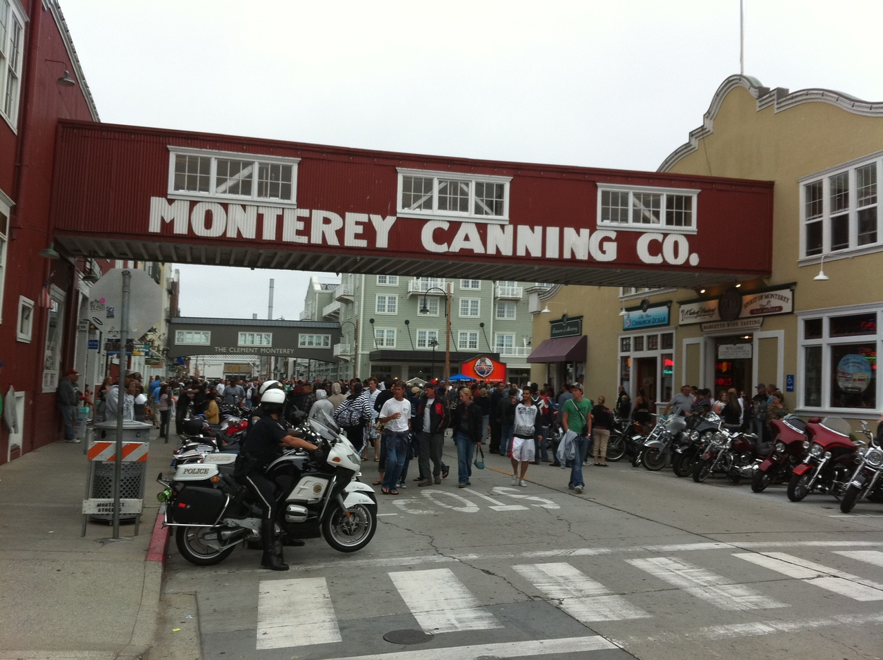 Cannery Row in Monterrey.  John Steinbeck wouldn't believe it if he saw it with his own eyes.