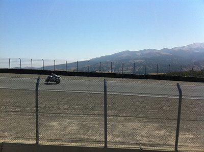 Wheeling out of turn 6, heading for the corkscrew.