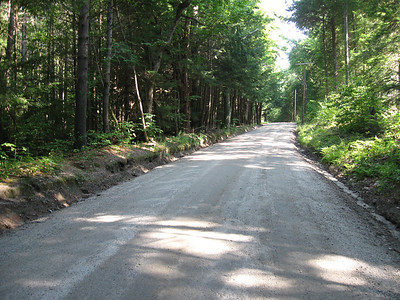 Just a typical gravel road connecting two towns.