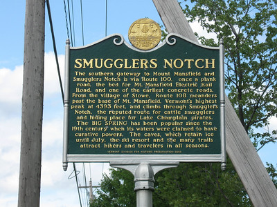 Goal #2 - riding to the northern part of VT to see Smuggler's Notch.