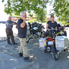 As I moved across Idaho, I started to see more and more Beemer riders heading for the Rally. Here, a group of three was gathered under a shade tree in Arco, Idaho, taking a break and calling in on the ubiquitous cell phone. These folks were from Minnesota.
