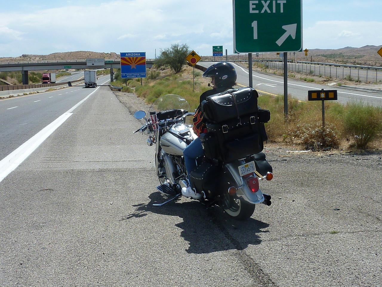 Entering Arizona