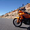 mike's new KTM 990; built for this kind of thing.