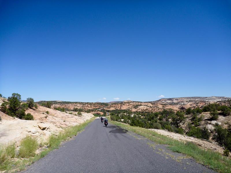 paved portion of burr trail, ut