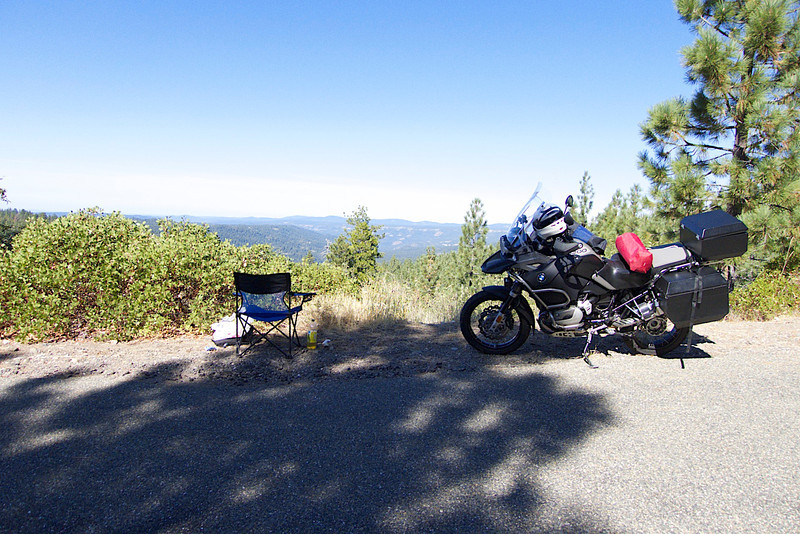 A great place to have lunch on a deserted logging road.