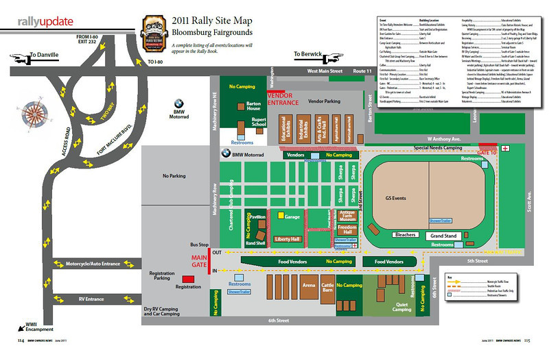 Rally Map with lots of Food Vendor space.