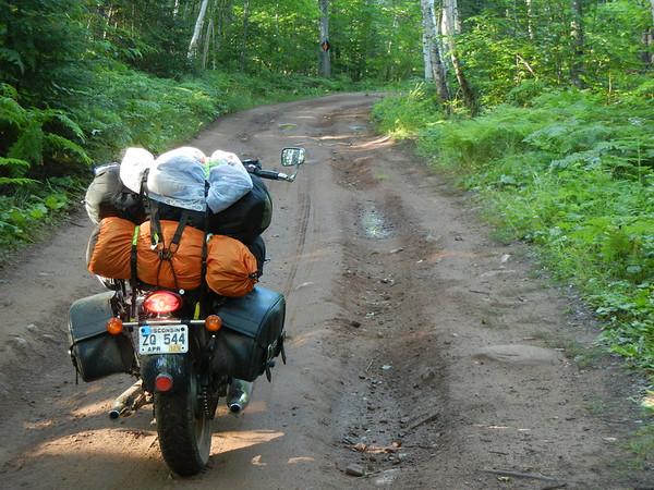 Seasonal road north of Copper Harbor, MI