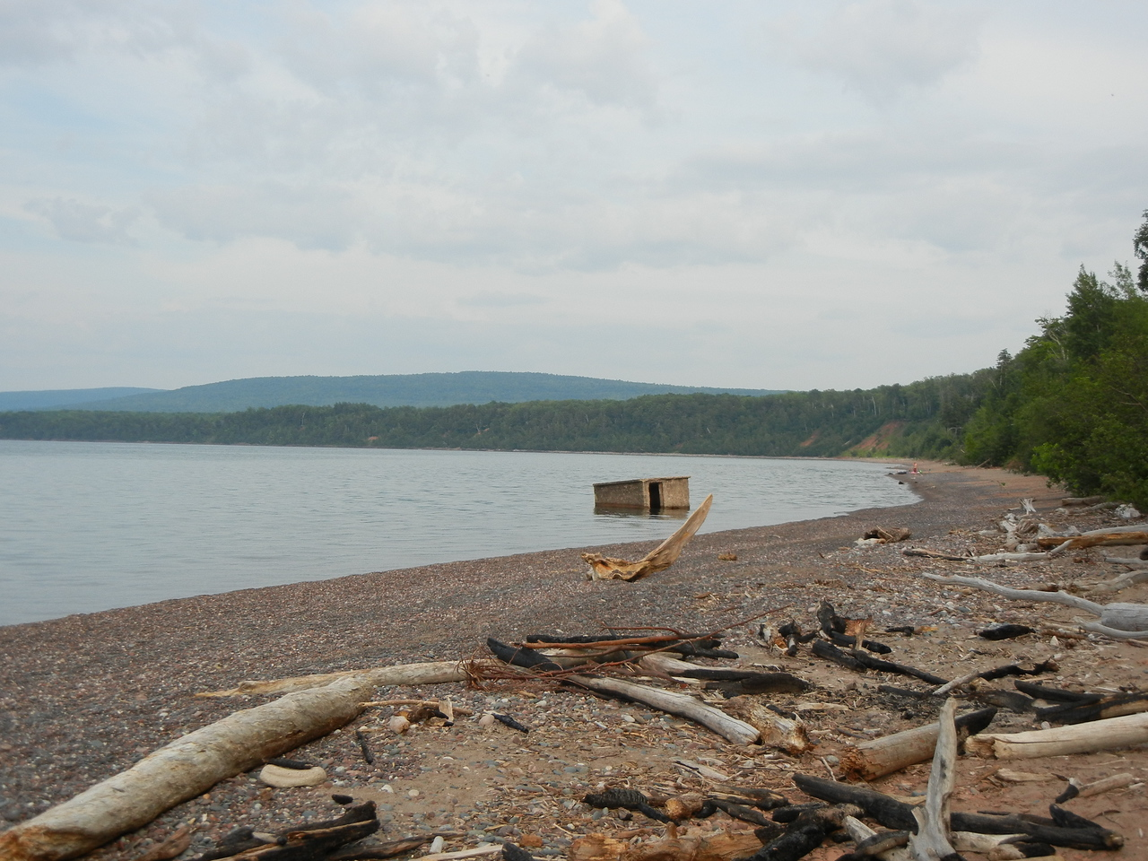 The shore at LIttle Girl Point campground