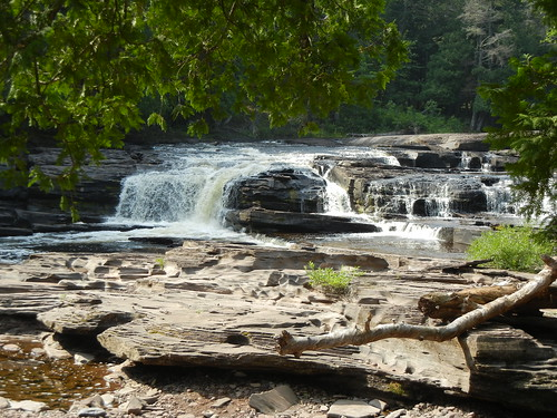 Waterfalls at the Presque Isle River