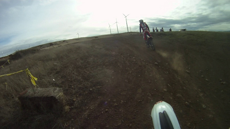 MX track on the 125 chasing Dax