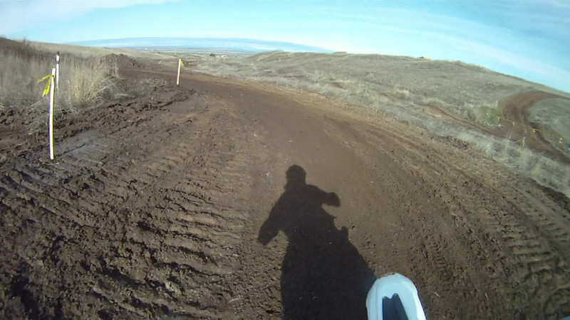MX track for the first time on the 125, for some less light break in.