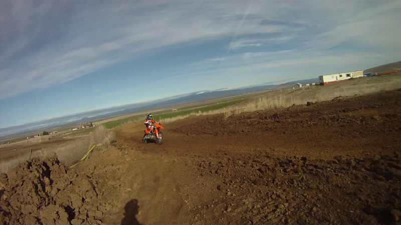 MX track on the 125, chasing Don on his YZ450.