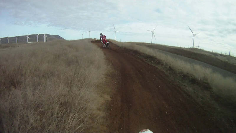 GP course on the 125 chasing Don on his YZ450 part 2