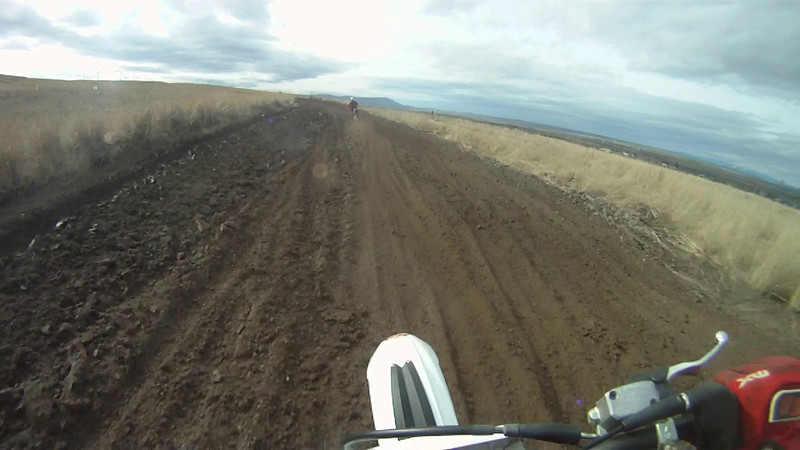 GP course on the 125, chasing Josh on his wr250f.