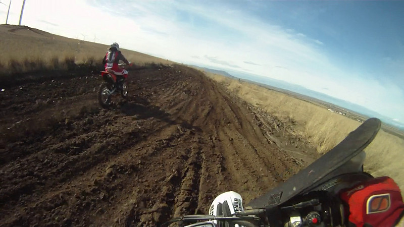 GP course on the TXC300, chasing Don on his YZ450.