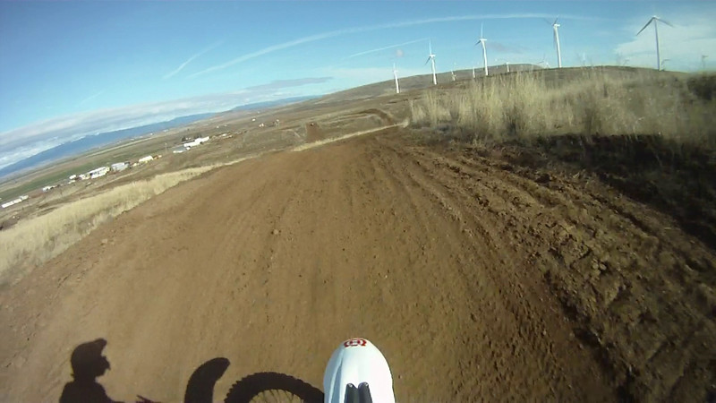 MX course on the 125 until I run it out of gas...