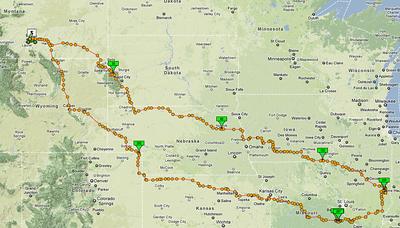 Actual route